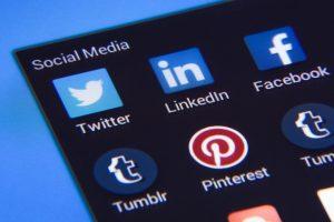 An image of all social media logos