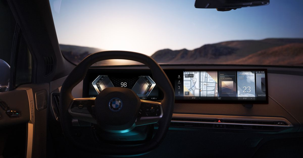 BMW curved iDrive display